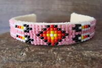 Navajo Indian Jewelry Hand Beaded Bracelet by Jackie Cleveland