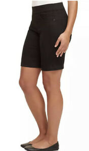NWT DKNY Jeans Women's Comfort Stretch Pull on Bermuda Short Black S