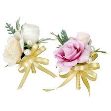 Set of 2pcs Wedding Flower Corsage Groom Best Man Boutonniere Decoration