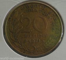 20 centimes marianne 1971 : TTB : pièce de monnaie française