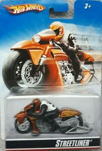 Hot Wheels motor cycles Streetliner with rider 1/64