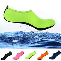 Men Women Skin Water Shoes Aqua Socks Yoga Exercise Pool Beach Swim Slip On Surf