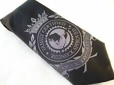 Duck Dynasty Tie Men's Necktie Black Hand Made Family Certified Redneck Approved