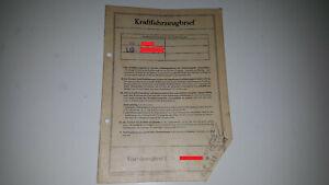 Fahrzeugbrief Kfz Brief VW Käfer Typ 11 30PS 1959 für Sammler oder Tüv Vergleich