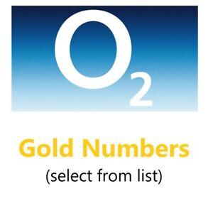 Memorable & Birthday Year Mobile Telephone Sim Gold Numbers O2