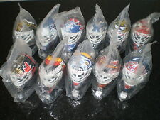 McDonalds Collectible Display Goalie Mask Set Hockey Figure Toy Happy Meal 1990