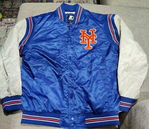 VTG Starter Black Label New York Mets Nylon Satin Jacket Large