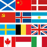 30 Different Country Flag 3 x 5 ft 90*150cm Polyester Flag with 2 Brass Grommets