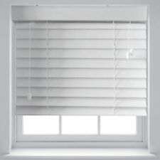 Quality White Wood Effect 50mm Venetian Blinds Trimmable