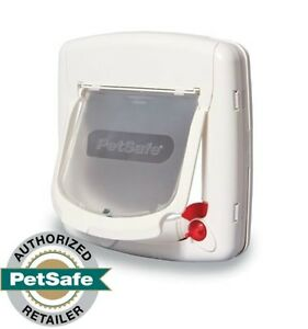PetSafe 4-Way Locking Cat Door w/Tunnel White Interior/Exterior PPA00-11325