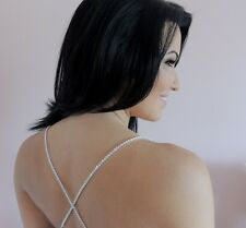 rhinestone bra straps 1 row no gap high quality dress bridal costume adjustable
