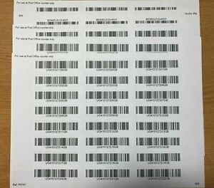 """""""TRACKED Mail"""" Bar Code Postal Stickers Labels tracking tracked post delivery"""