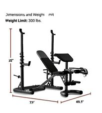 Weider XRS 20 Gray Olympic Workout Bench with Independent Squat Rack BEST PRICE!