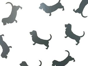 Basset Hound Cute Dog Vinyl Wall Art Decals/Stickers - Various Colours & Sizes