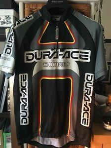 Men's Vintage SHIMANO Short Sleeve Cycling Jersey Top Size UK L
