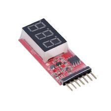 Rc Voltage Lipo Battery Meter Tester Indicator 2-6 cells Led Panel Voltmeter Ka