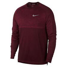 Nike Dri-Fit Knit Medalist Long Sleeve Running Top Shirt Red Crush DRY Medium