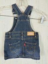 LEVIS Red Tab Denim Bib Overall Jean Dress Jumper Baby Girls 12 Months
