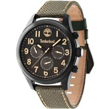 Timberland TBL14477JSB61 Men's Brown Nylon Band With Black Analog Dial Watch NWT