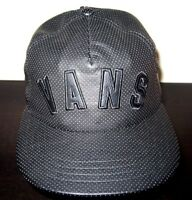 Vans Shoes Mens Novelty Faux Leather Trucker Hat Cap Black Adjustable Free Ship