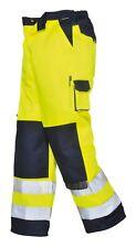 Portwest Lyon Hi Vis Trousers Uniform Contrast Traffic Safety Pants TX51