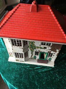 Vintage collectable triang wooden dolls house metal sliding door restore?