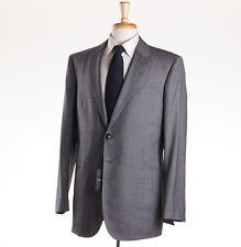 NWT $3995 ARMANI BLACK LABEL 'Taylor' Gray Sharskin Super 150s Suit Slim 46 R
