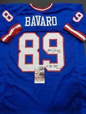 MARK BAVARO AUTOGRAPHED NEW YORK GIANTS JERSEY INSCRIP 2X SB CHAMP COA JSA