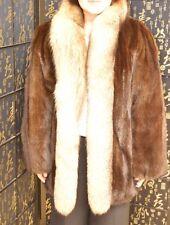Final Sale! Mink fur coat with crystal fox trim. great condition, sz M