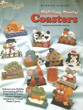 Holiday Party Coasters Sets Plastic Canvas Patterns TNS Frog Penguin Turkey Bird