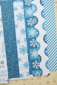 Christmas Snow mix patterns Card Stock 250gsm snowflakes craft paper cardstock