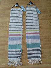 2x boys trendy cool LIGHTWEIGHT/SUMMER/LINEN LOOK stripey scarf BNWT NEW twins