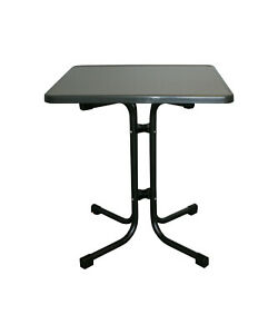 Bistrotisch/ Terrassentisch/ Gartentisch mit Platte 70x70cm, Anthrazit