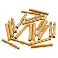 20pairs 2.0mm 2mm Gold Bullet Connector Battery ESC Plug