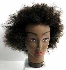 "ANNIE COSMETOLOGY MANNEQUIN HEAD 100% HUMAN HAIR 8"" AFRO CURLS GAIL (#4816)"