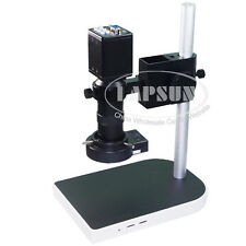 VGA HD Indutry Microscope Camera Set Stand Led Light C-Mount Lens PCB Soldering