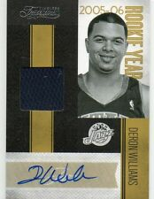(A66) 10-11 Deron Williams Timeless Treasures AUTO ROOKIE YEAR MATERIALS #D34/50