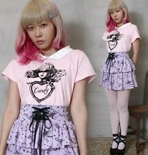 Japan Cutie Victorian Angel Baby Gyaru Peter Pan Pearl Beads Collar Polo Shirt