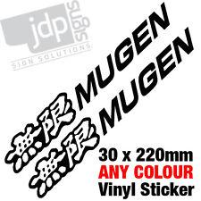 2x Mugen Corps / autocollant vinyle fenêtre autocollants toute couleur
