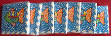 Nwt, 7 packages of fish themed cocktail napkins, Pier One, 112 total, Go Fish