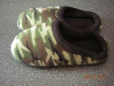 NIB New Men's Camoflauge Slippers House shoes - Size 7 8 (L) Indoor Outdoor Sole