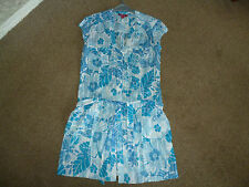 """MONSOON SUMMER TUNIC TOP SIZE 10 LONG LENGTH 33"""" LOVELY CONDITION COOL COTTON"""