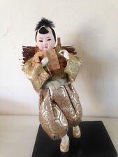 Gofun Ichimatsu figurine boy carrying wood
