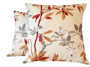 "Cushion Cover  14"" 16"" 18"" 20"" 22"" Beige Brown Grey Floral Sanderson Design"