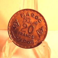 CIRCULATED 1952 (1371) 20 FRANCS MAROC COIN (60417)1