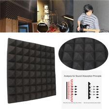 "19"" Studio Acoustic Foam Insulation Sound Proof Isolation Square Panel Tile KTV"