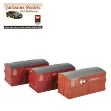Bachmann 36-004A BD Containers Bauxite & Crimson (Pack of 3) OO Gauge