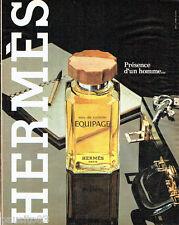 PUBLICITE ADVERTISING 056  1982  Eau de toilette Equipage  Hermès