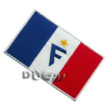 France National Flag Patch Embroidered  Sew or Iron on Patch With F Letter
