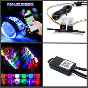 Headlight Retrofit RGB Multi-Color LED Devil Eyes Bluetooth App Control Kit